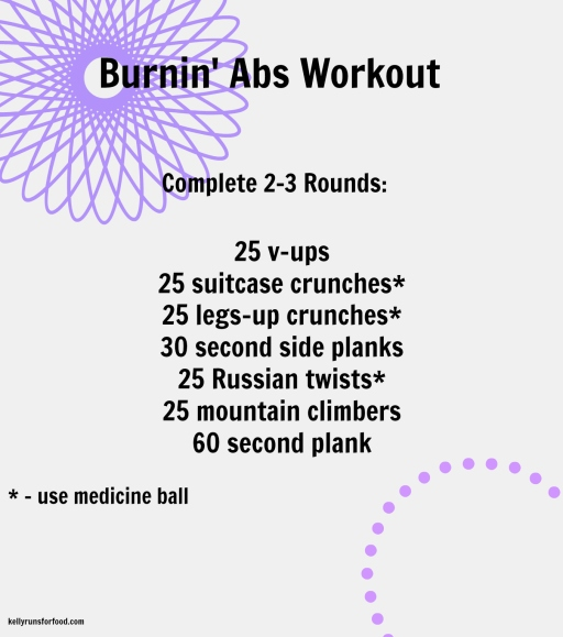 burnin' abs workout
