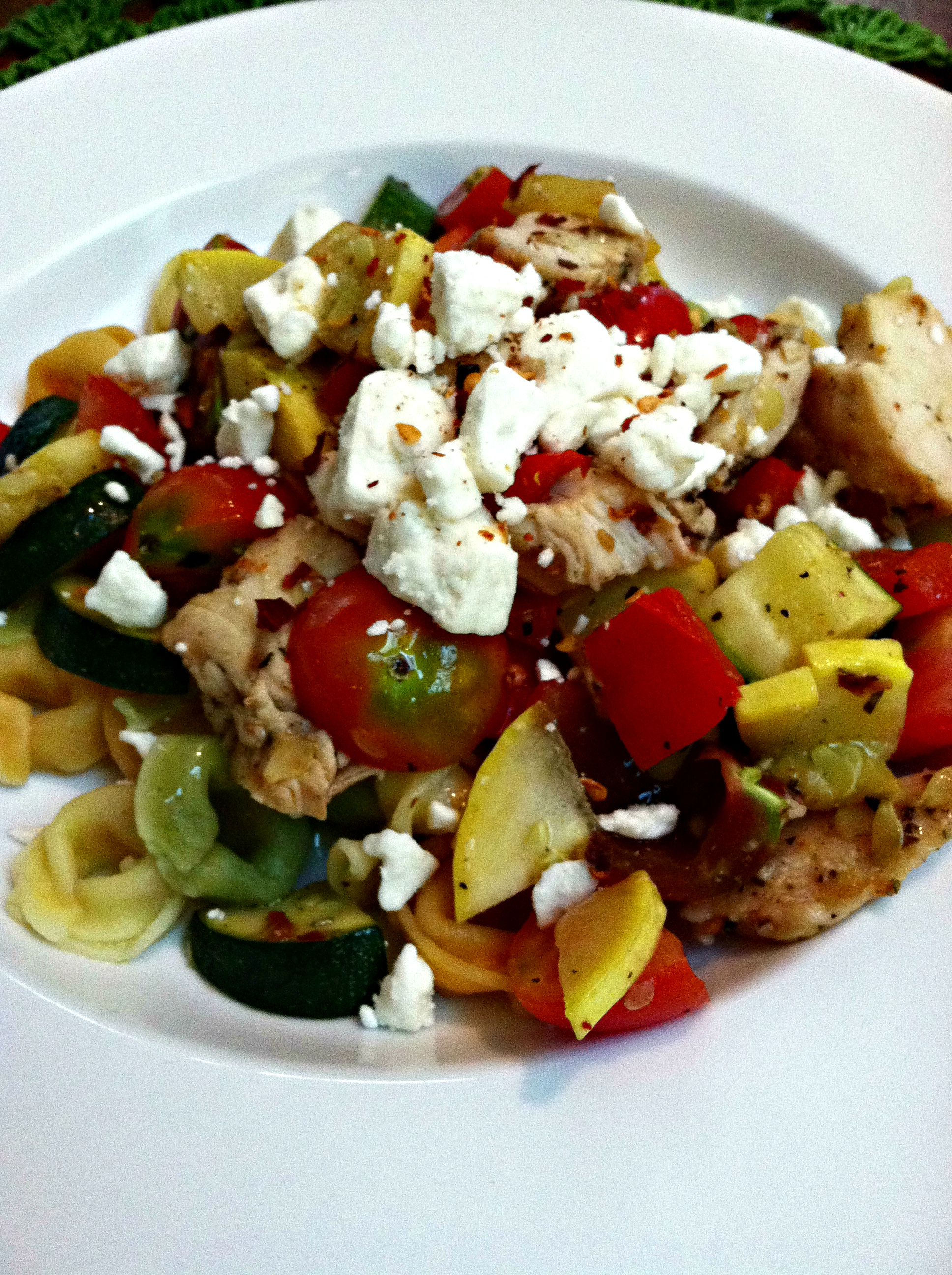 Summer Vegetable Chicken Pasta