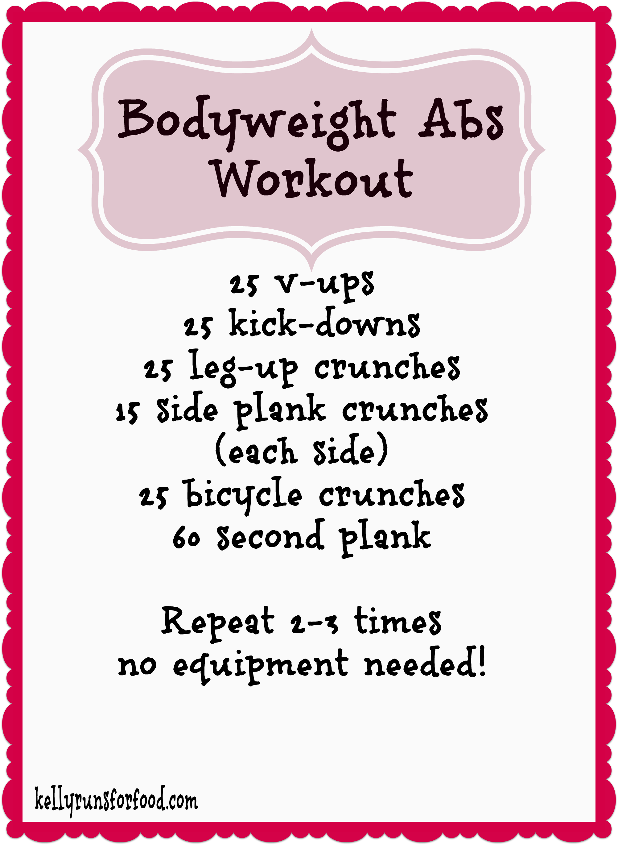 Bodyweight Abs Workout
