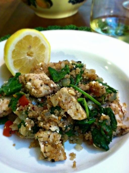 Mediterranean chicken quinoa