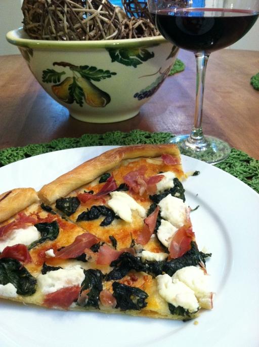 Spinach ricotta pizza (2)