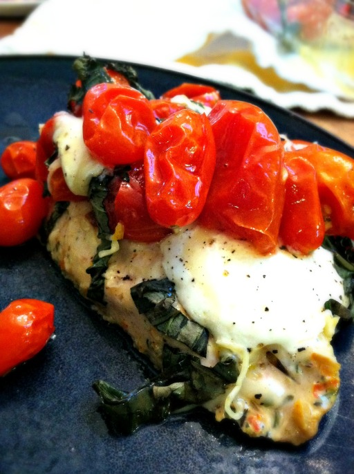 Caprese Chicken on Plate