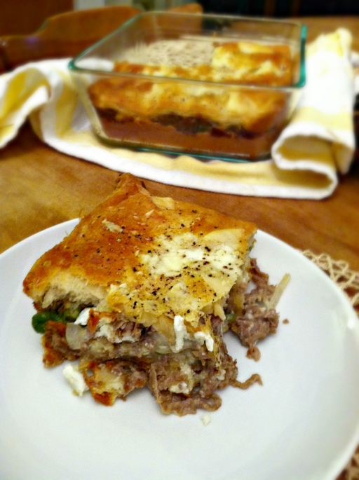 Cooked steak layer bake 3
