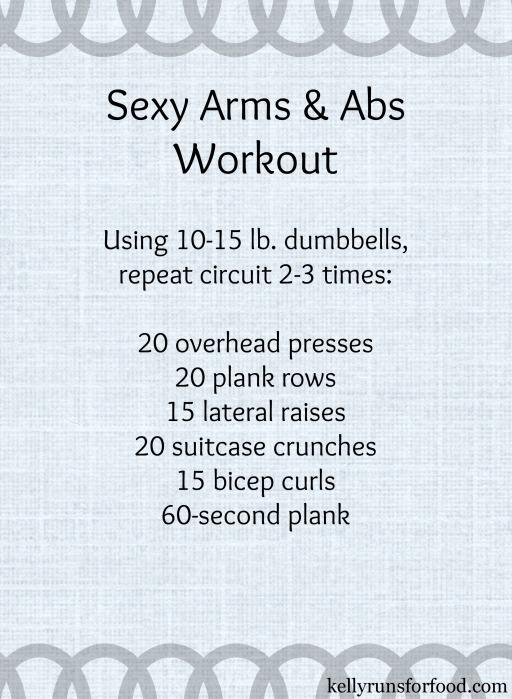 Sexy arms and abs workout