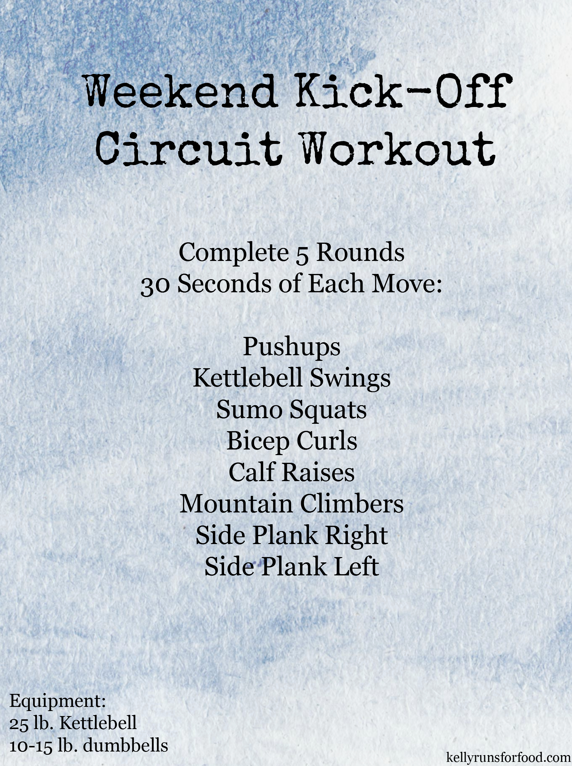 Weekend Kickoff Circuit Workout
