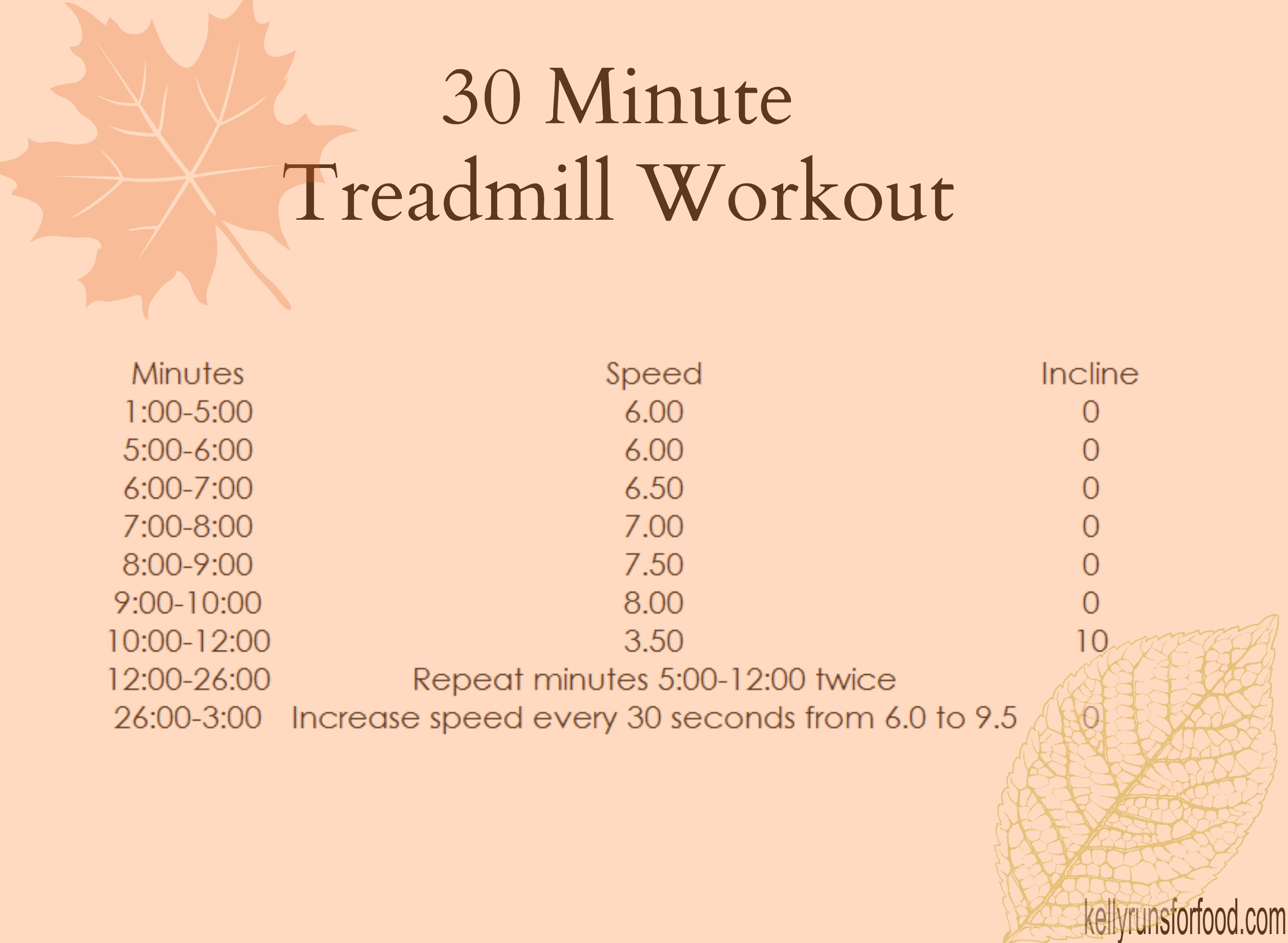 30 minute treadmill