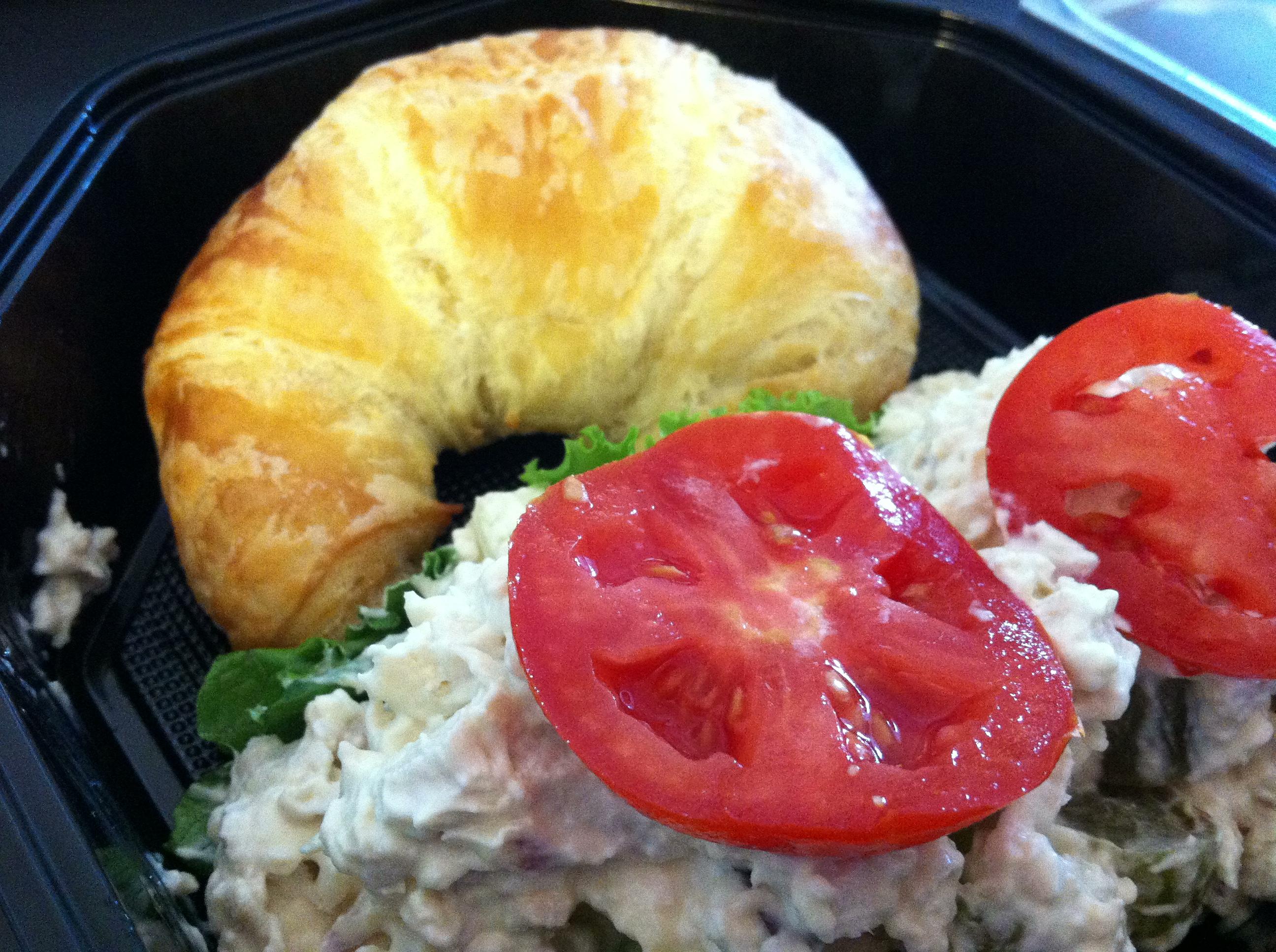 Chicken salad croissant