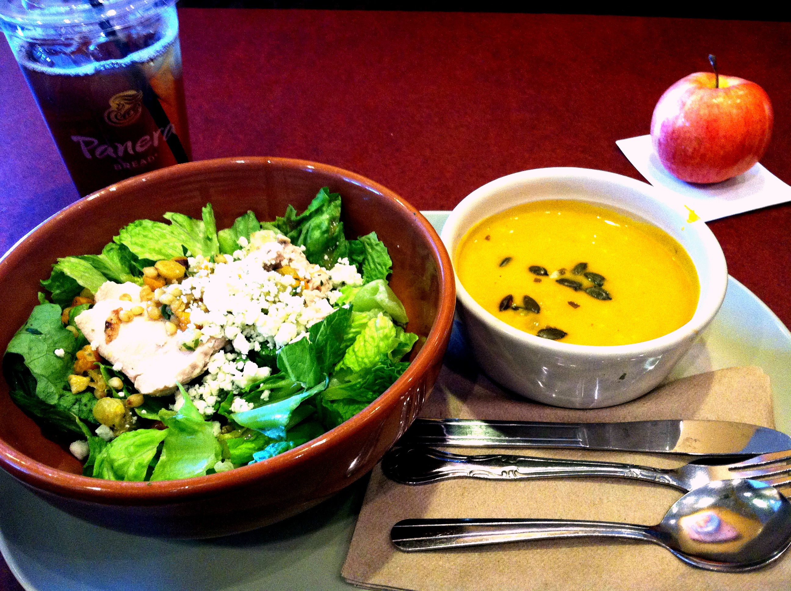 Panera soup and salad
