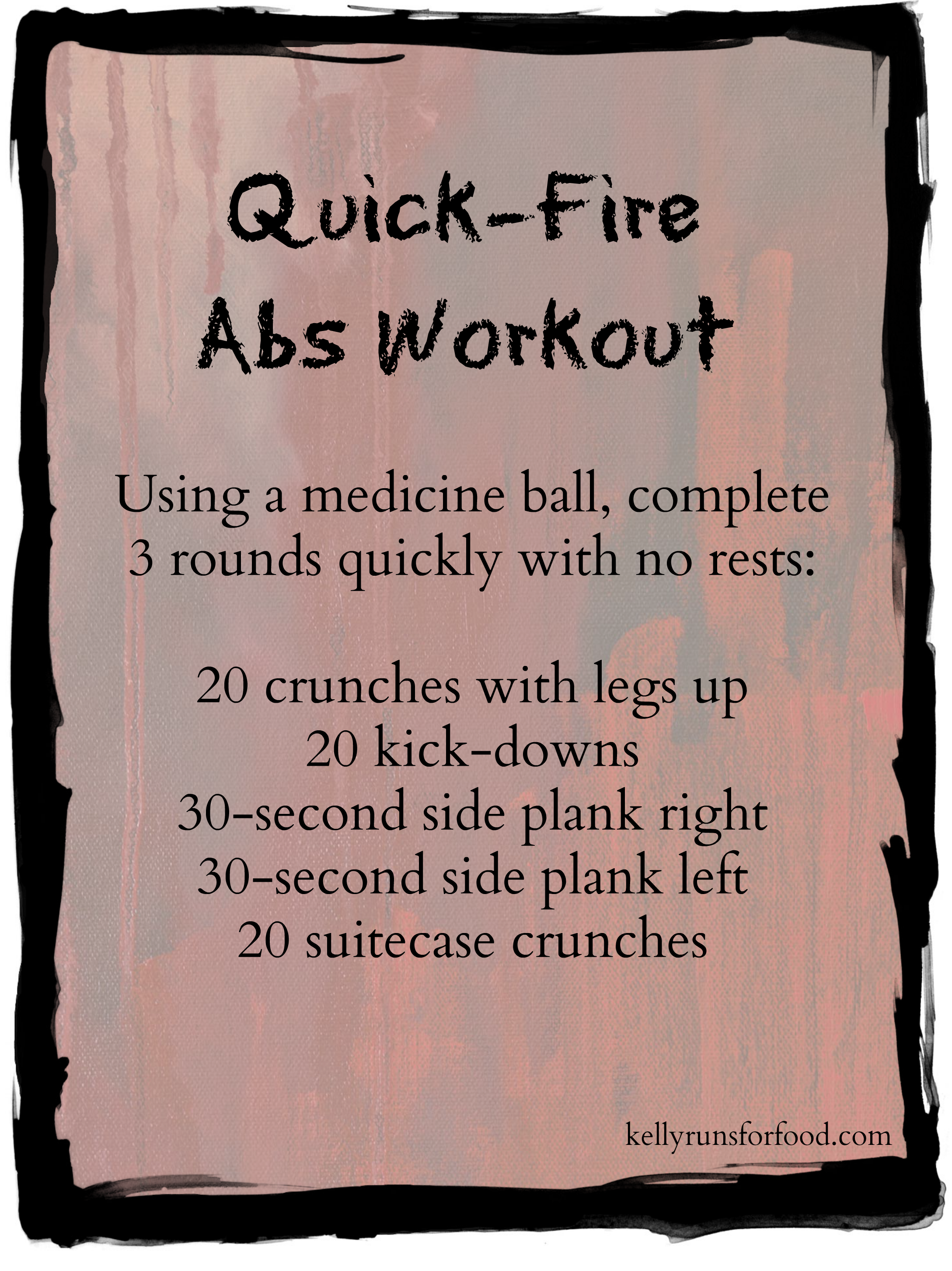 Quick-fire abs workout