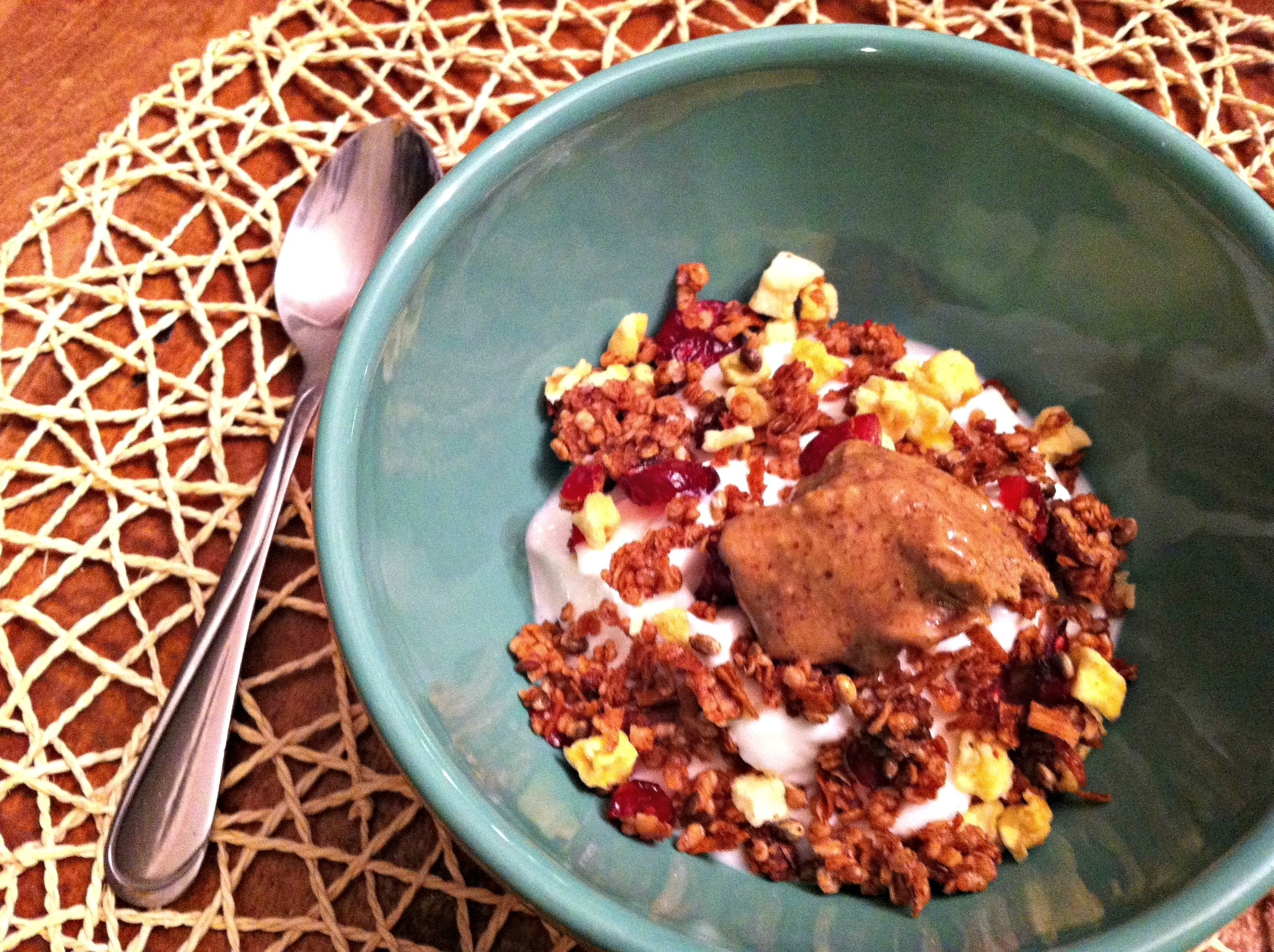 Quinoa granola yogurt bowl