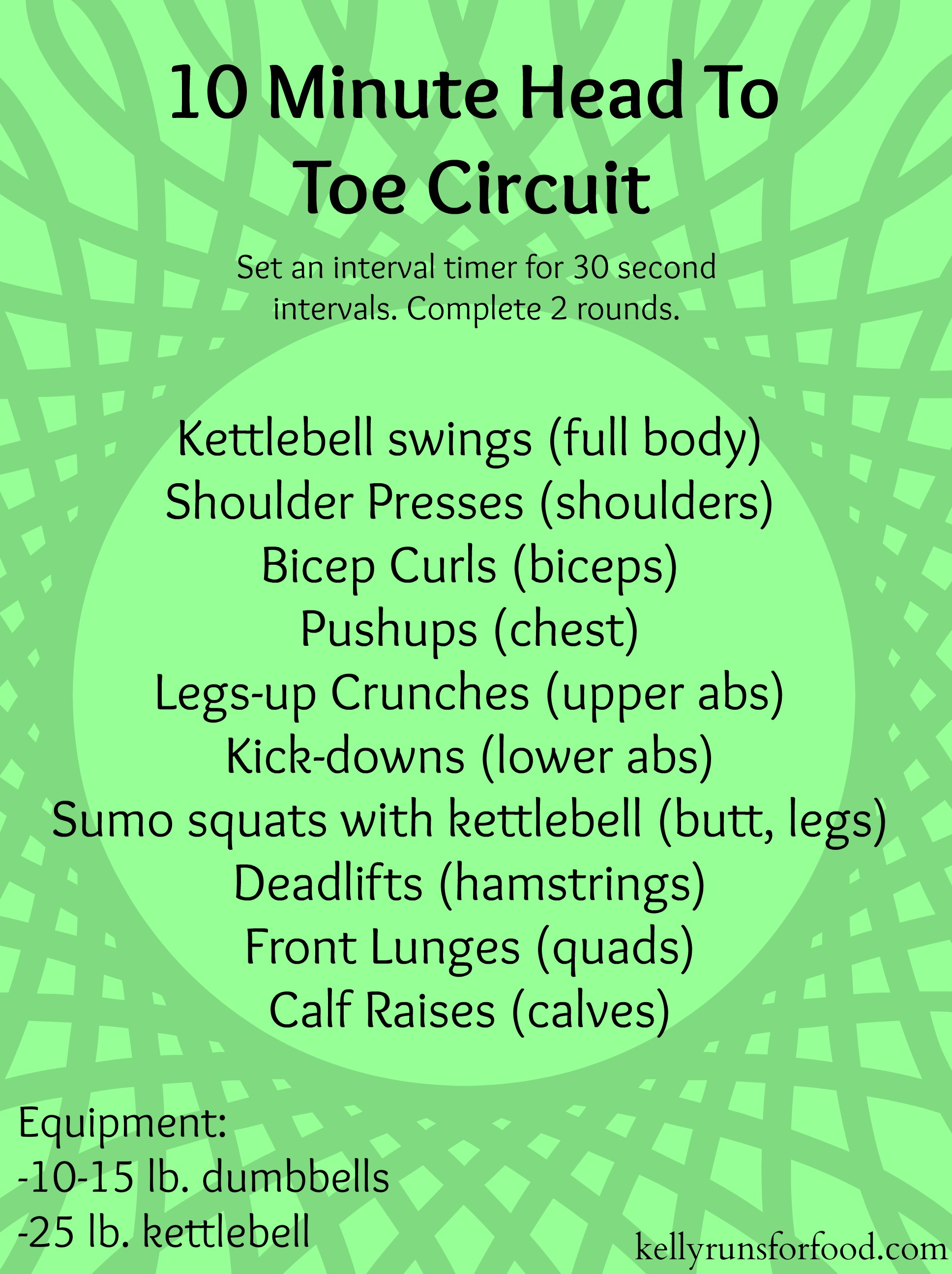 10 minute head to toe circuit