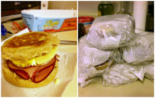 breakfast sandwich collage