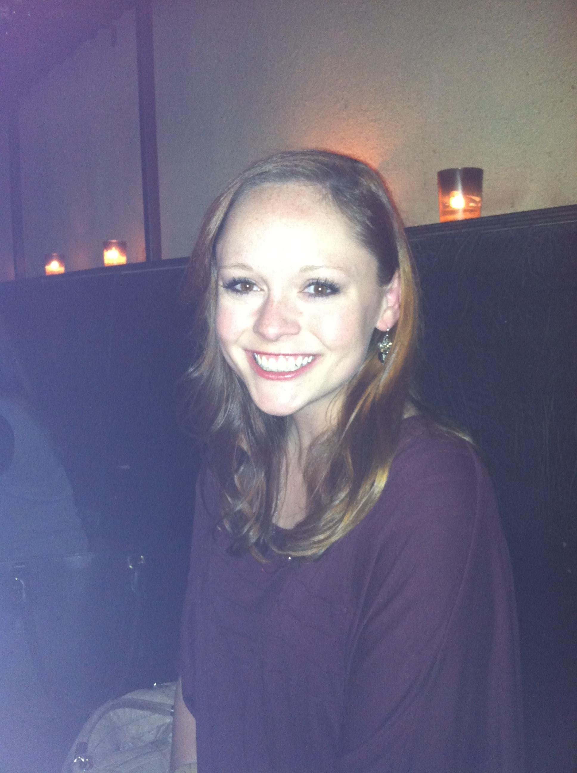 Kelly at wine bar