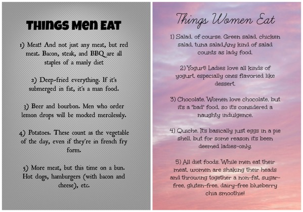 Men vs. women food