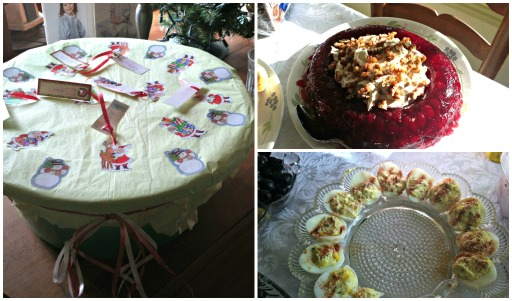 Grandma's Christmas food collage