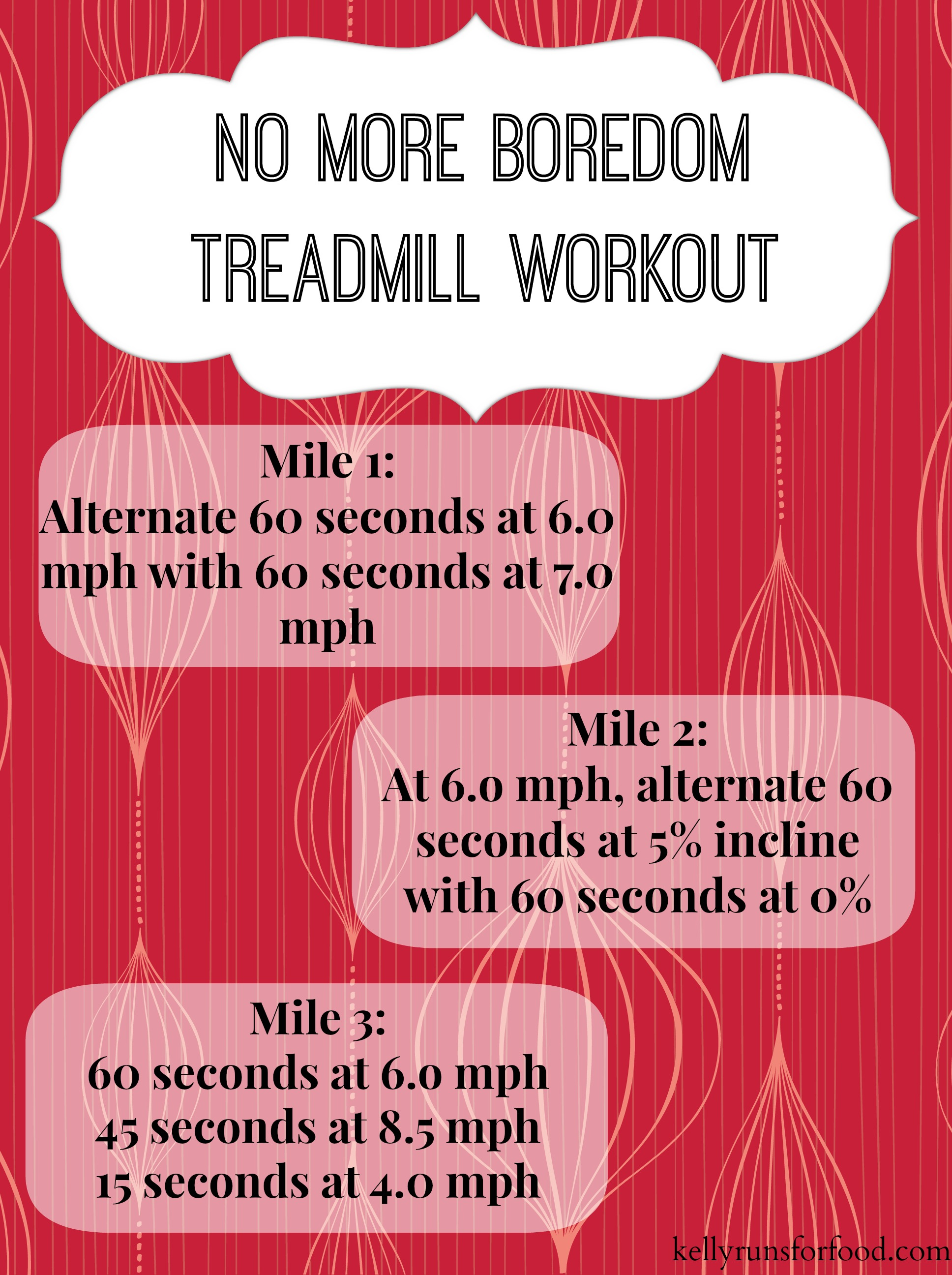 No more bordedom treadmill workout