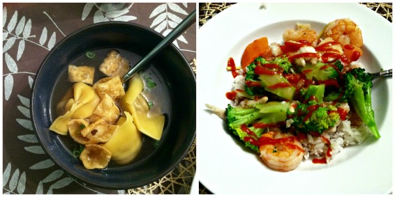 Chinese food collage