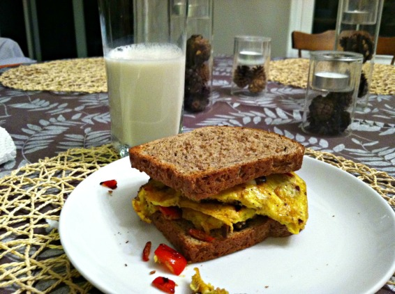 dijon breakfast sandwich