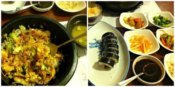 Korean food collage