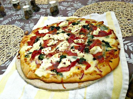 spinach ricotta pizza 2