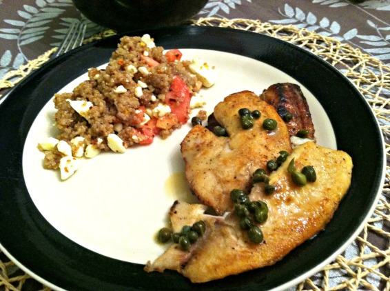 Tilapia and quinoa