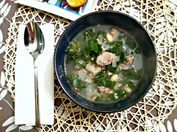 Turkey sausage soup 2