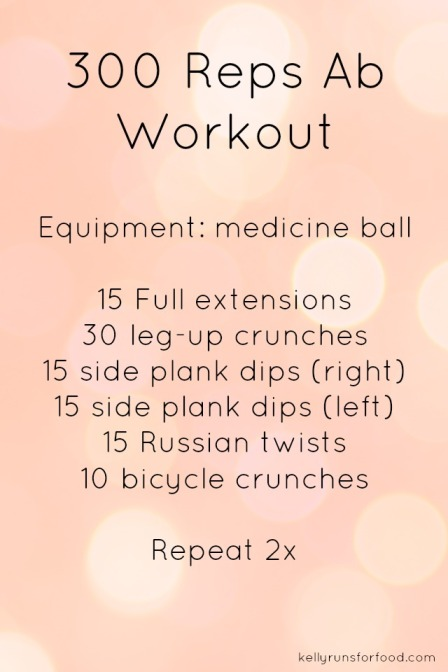 300 reps ab workout