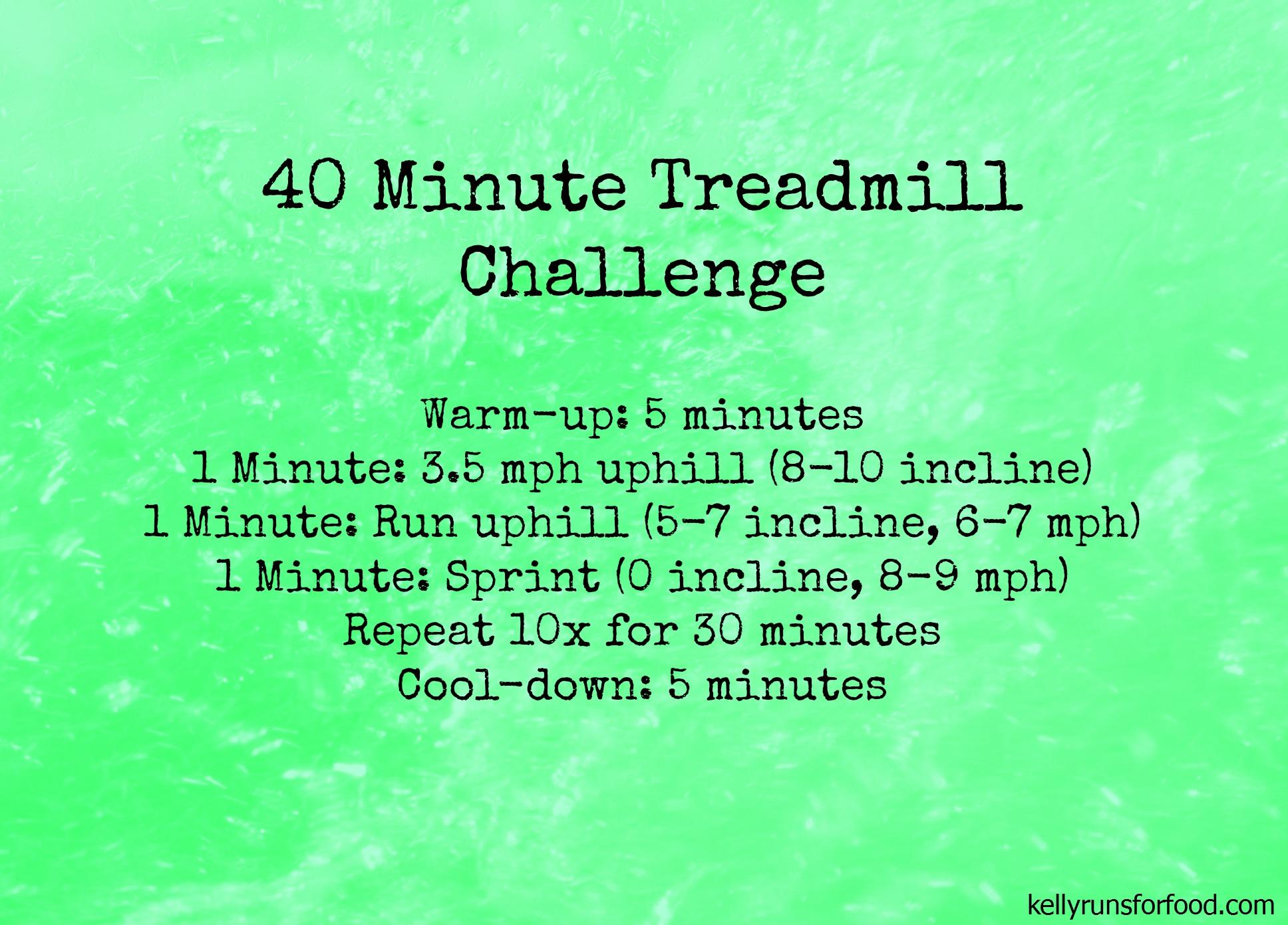 40 minute treadmill challenge