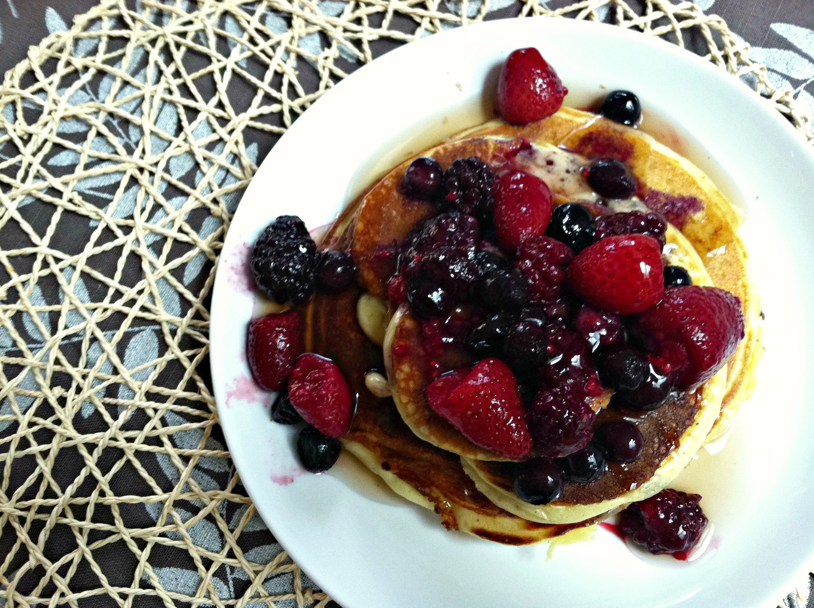 Greek yogurt protein pancakes 3
