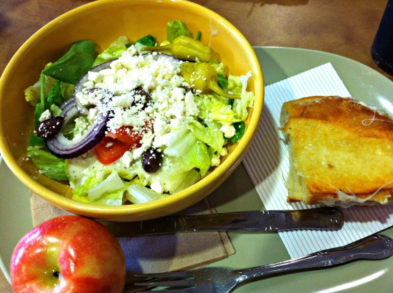 Panera grilled cheese and salad