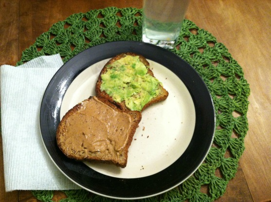 Avocado toast and nutzo toast