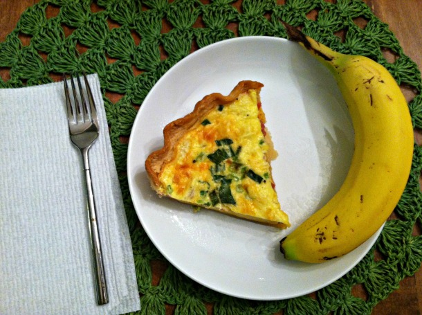 Quiche and banana