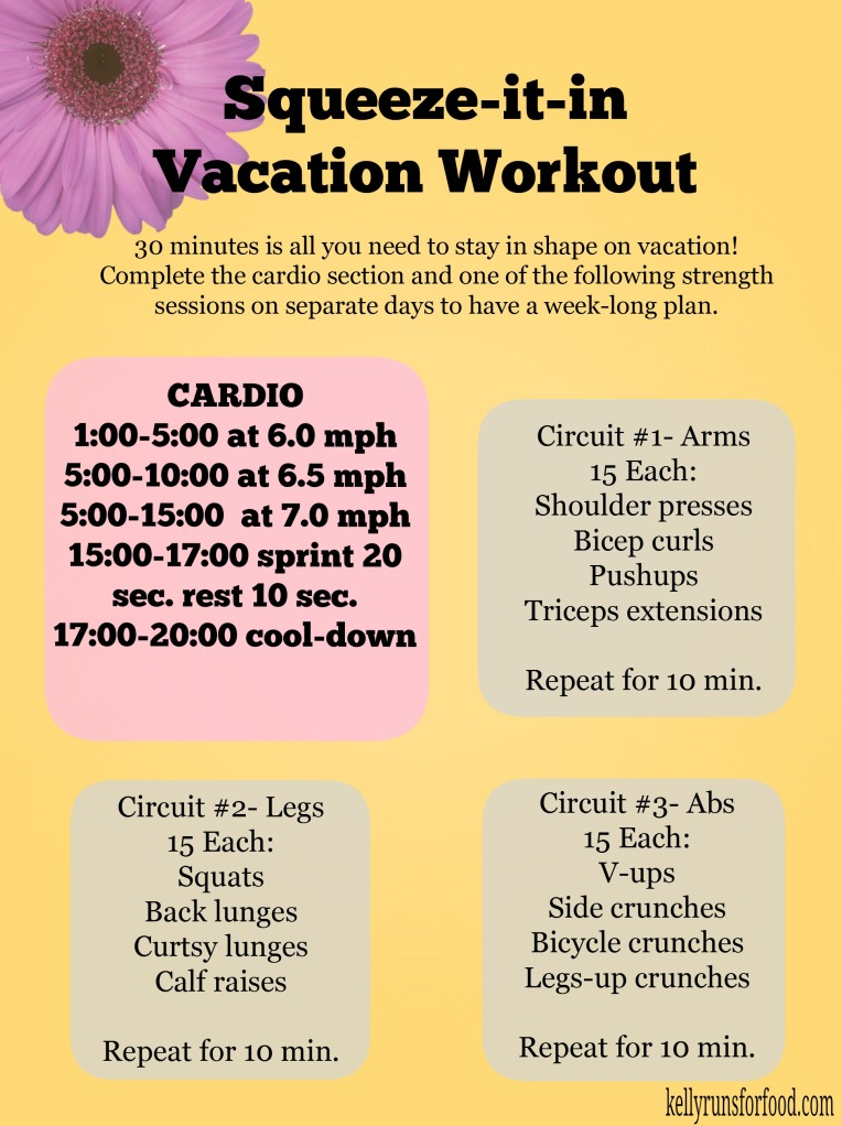 Squeeze-it-in vacation workout